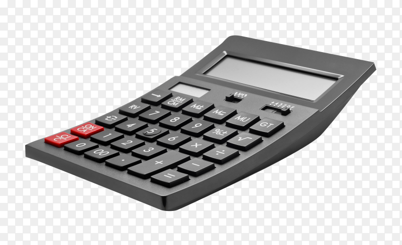 Electronic calculator isolated  on transparent background PNG