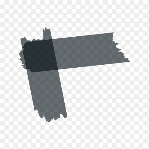 Adhesive, sticky, masking, duct tape strips for text on transparent PNG