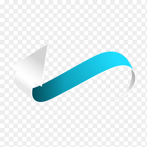 Arrow isolated in flat design on transparent background PNG