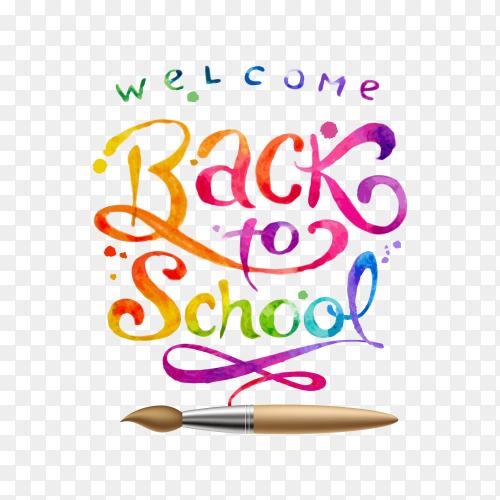Back to school banner design on transparent background PNG
