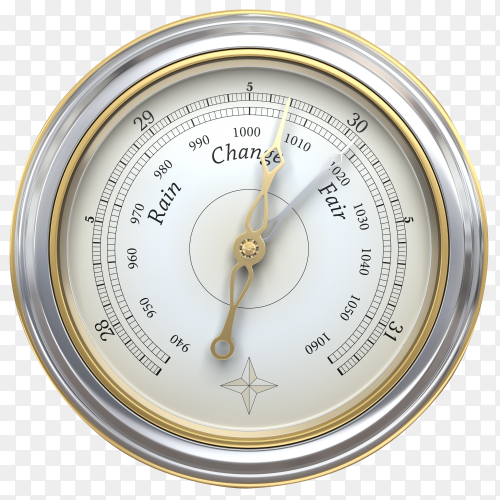 Barometer isolated on transparent background PNG