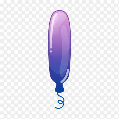 Beautiful balloon in purple color on transparent background PNG