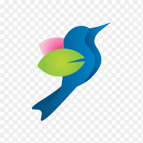 Beautiful simple bird logo template on transparent background PNG