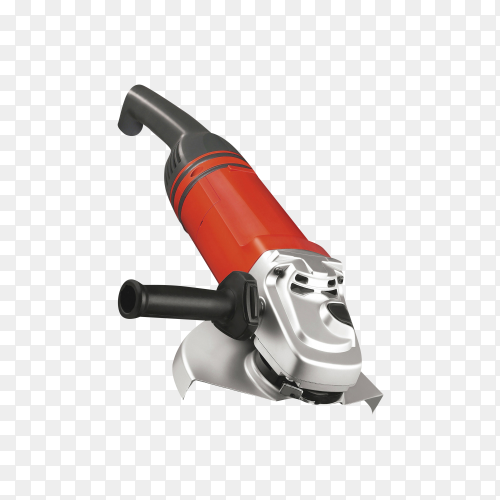 Big powerful angle grinder isolated on transparent background PNG