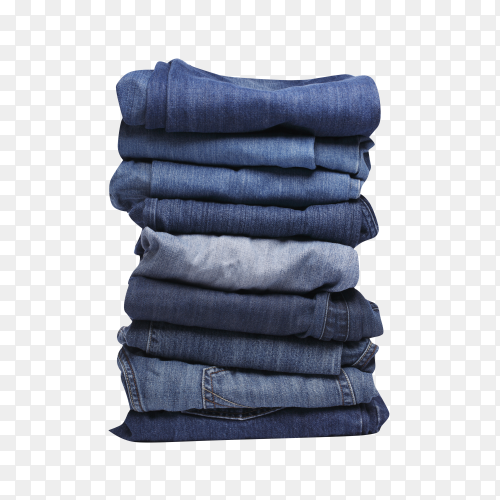 Blue jeans isolated  on transparent background PNG
