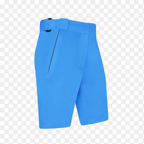 Blue short for men on transparent background PNG