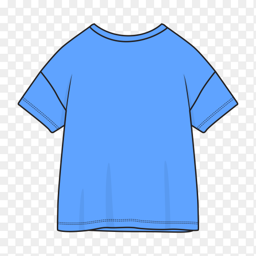 Blue t-shirt isolated on transparent background PNG