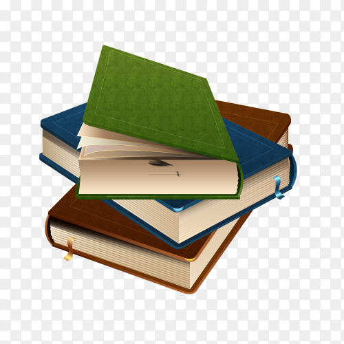 Books isolated on transparent background PNG