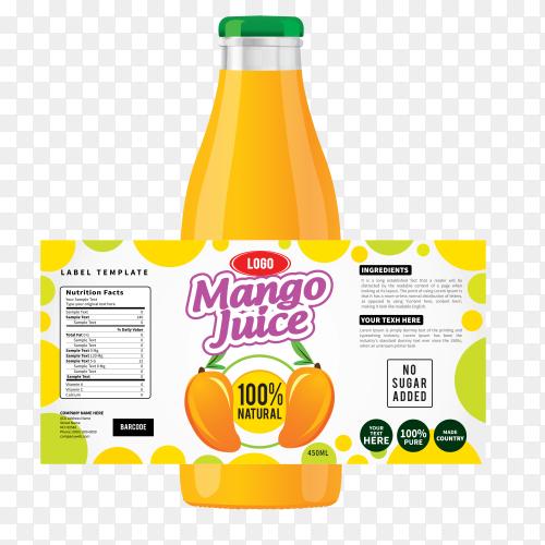Bottle label, Package template design, Label design, mock up design label template on transparent background PNG