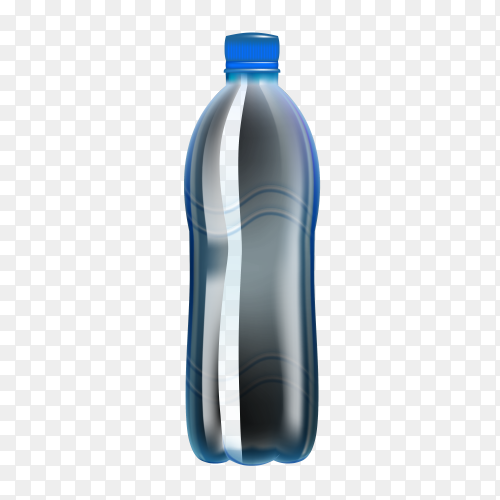 Bottle water made to plastic on transparent background PNG