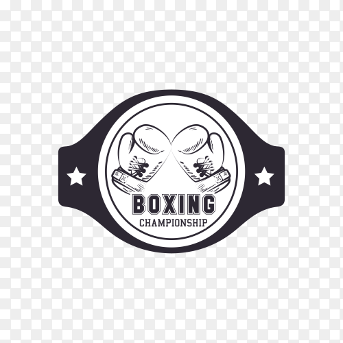 Boxing club logo on transparent background PNG