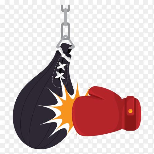 Boxing logo design on transparent background PNG