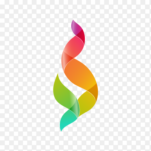 Colorful Abstract Shape Logo Template on transparent background PNG