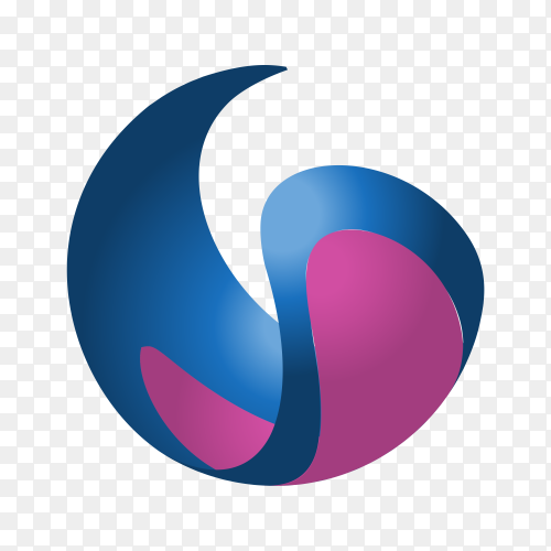 Colorful logo design template on transparent background PNG