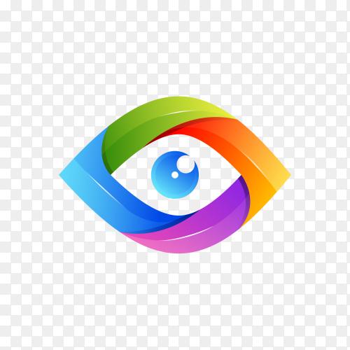 Creative Eye Concept Logo Design Template on transparent background PNG