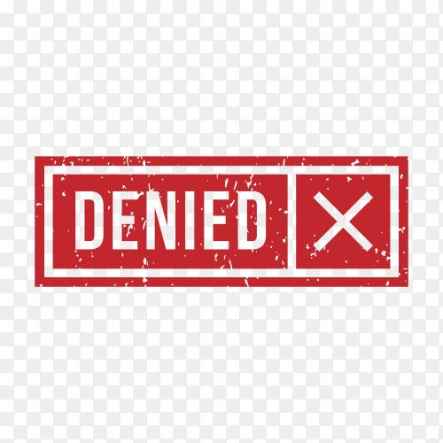 Denied Stamp Rubber illustration on transparent background PNG