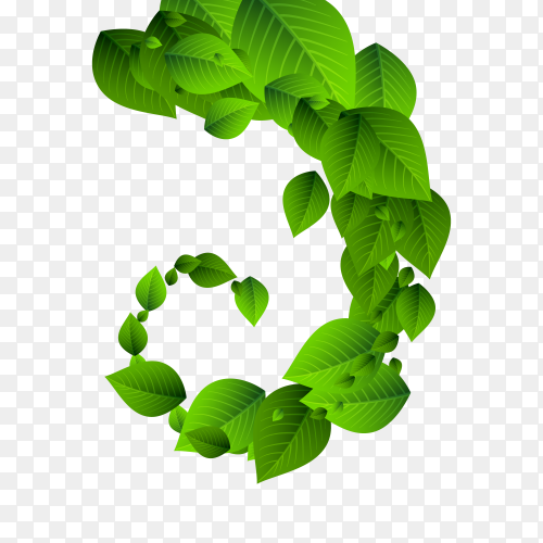 Falling green leaves. Fresh tea neat leaves flying on transparent background PNG