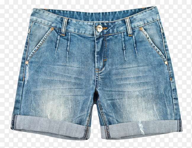 Fashion short jean pants for women isolated on transparent background PNG
