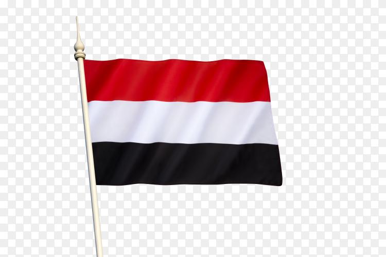 Flag of Yemen on transparent background PNG