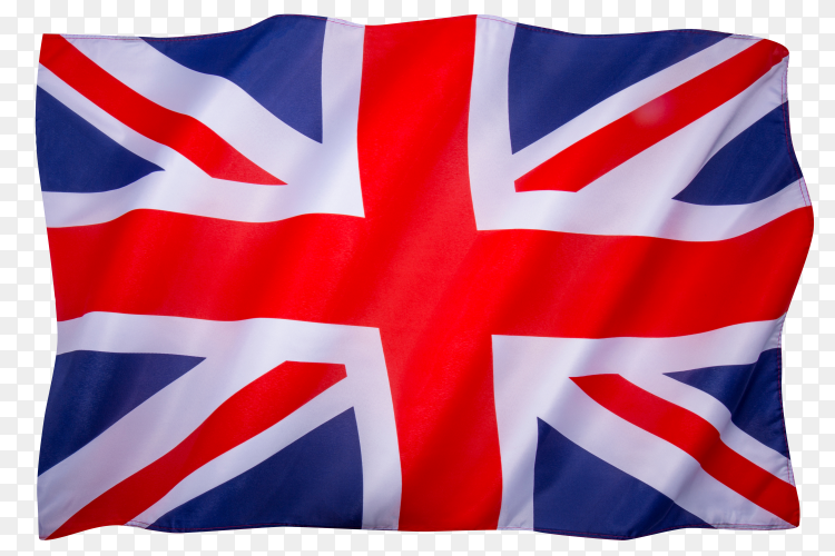Flag of the united kingdom of great Britain on transparent background PNG