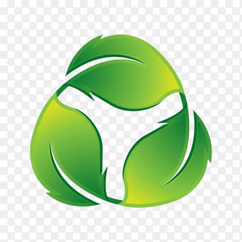Flat gradient nature concept logo on transparent background PNG