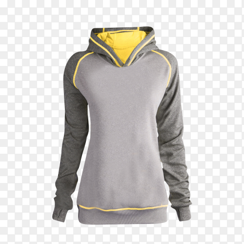 Gray Sweatshirt long sleeve on transparent background PNG