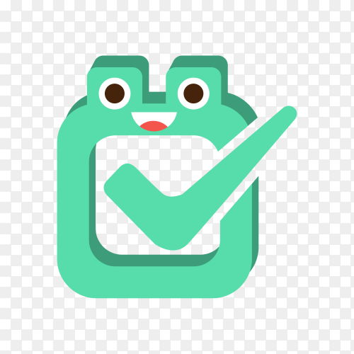 Green Vote Box, Cartoon Character Emoji With Eyes Illustration on transparent background PNG