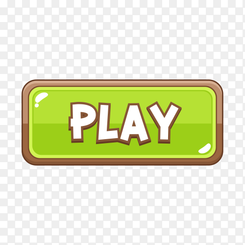 Green play button icon on transparent background PNG