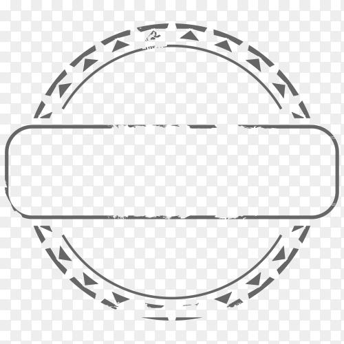 Grunge rubber stamp on transparent background PNG