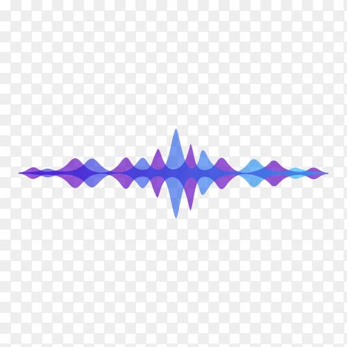 Halftone sound wave equalizer on transparent background PNG