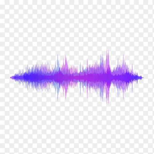 Halftone sound wave equalizer premium vector PNG