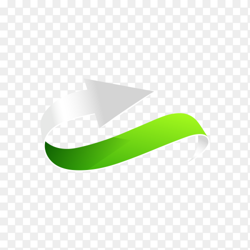 Hand drawn green arrow on transparent background PNG