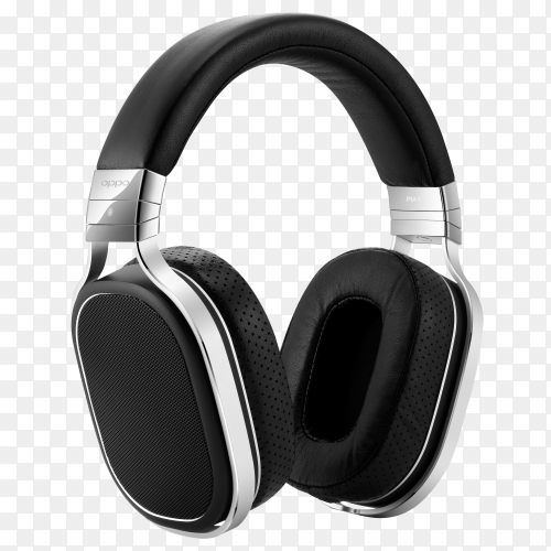 High-quality headphones on transparent background PNG