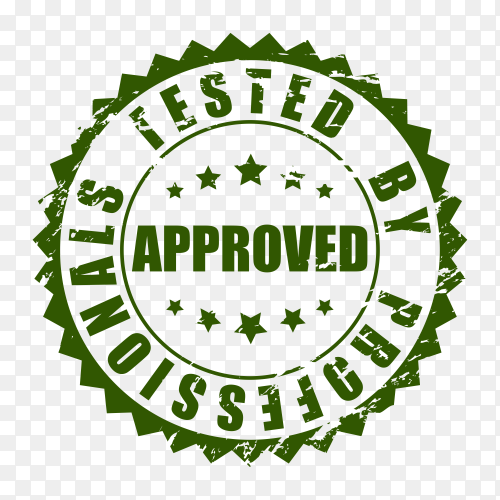 Illustration of Approved stamp on transparent background PNG
