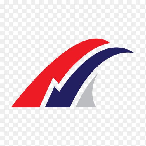 Illustration of logo design template on transparent background PNG