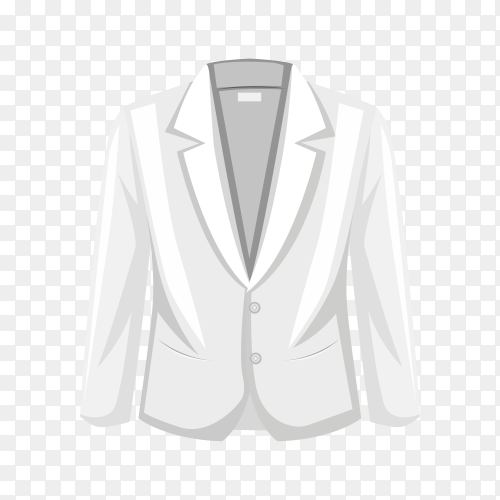 Jacket tuxedo suit on transparent background PNG
