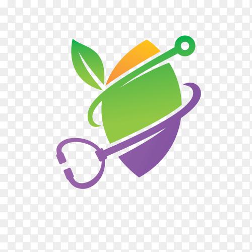 Leaf logo design vector template illustration on transparent background PNG