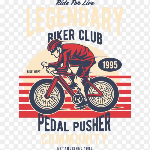 Legendary biker club on transparent background PNG