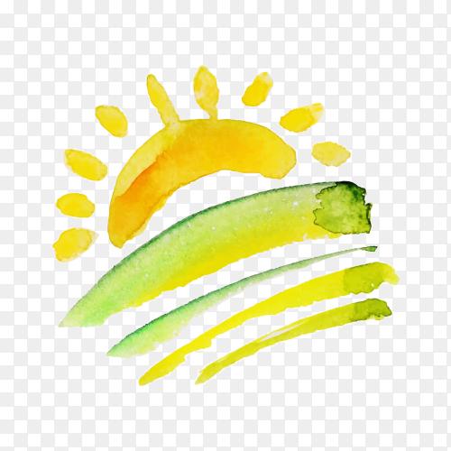 Logo design template illustration on transparent background PNG
