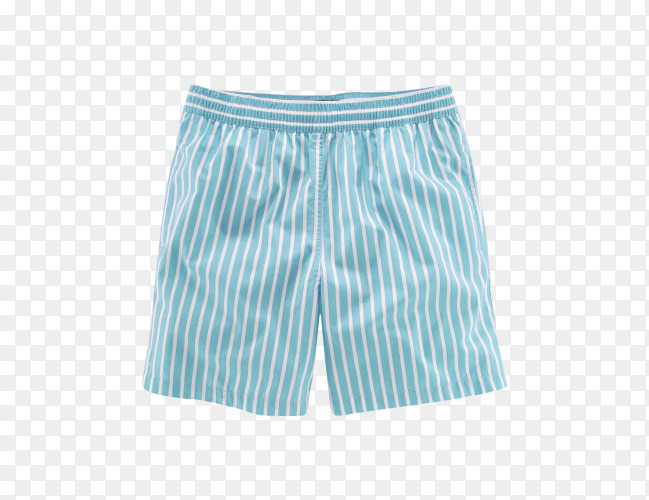 Men striped short isolated on transparent background PNG