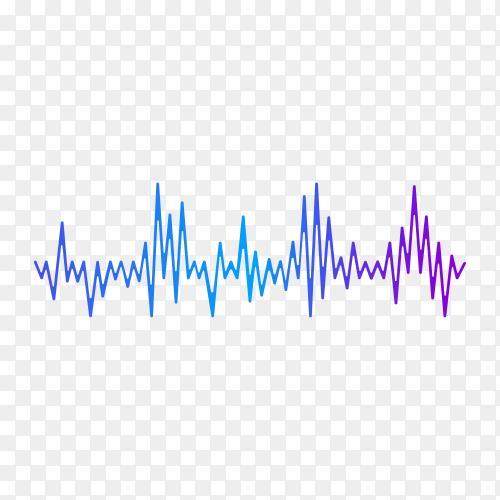 Modern sound wave equalizer . Sound wave icon on transparent background PNG