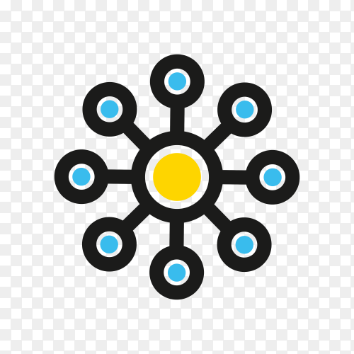 Network icon template isolated on transparent background PNG