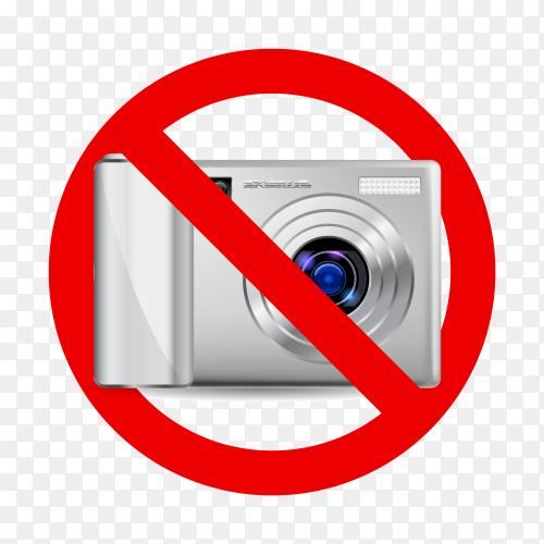 No camera sign on transparent background PNG