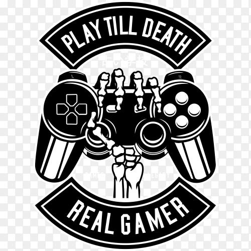 Play till death logo on transparent background PNG