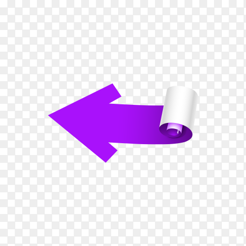 Purple arrow isolated on transparent background PNG