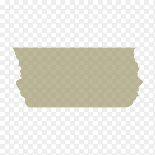 Realistic adhesive tape on transparent background PNG