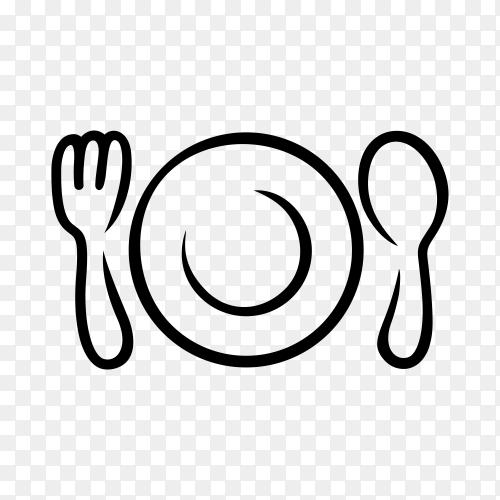 Restaurant logo on transparent background PNG