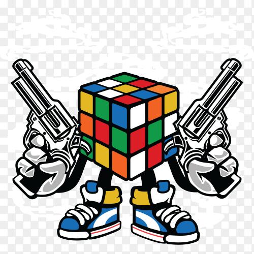 Rubix killer illustration on transparent background PNG
