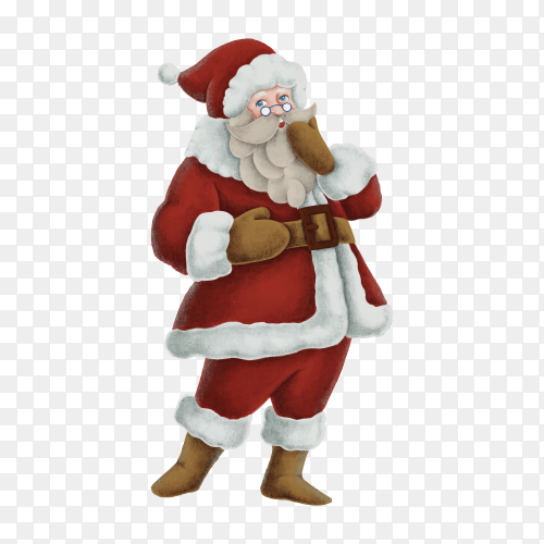 Santa Claus isolated on transparent background PNG