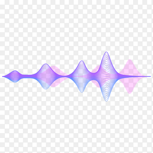 Sound wave icon on transparent background PNG